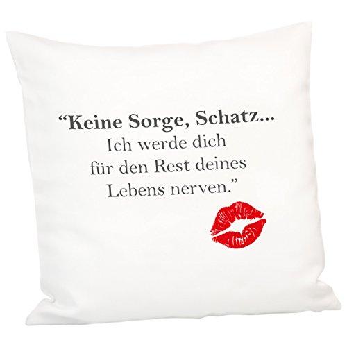 Cuscino–rivali della vita: stampata cuscino peluche con scritta divertente scritta–con o senza nome personalizzato–regalo originale per san valentino per la fidanzata o l' amico ohne namen