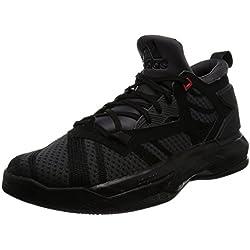 adidas D Lillard 2, Zapatillas de Baloncesto para Hombre, Negro (Negbas/Neguti/Rojint), 47 1/3 EU