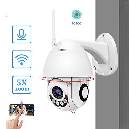 JuΜ Full HD 1080P WiFi IP-Kamera-Kabel PTZ Außen Speed   Dome Überwachungskamera-App ICSee Unterstützung Zwei-Wege-Audio (Europäische Spezifikationen) -