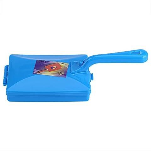 Mitigeur à main double balai brossé Canapé Tapis Dust Crumb Dirt Double Sweeper Cuisine à la maison Outils de nettoyage(Blue)
