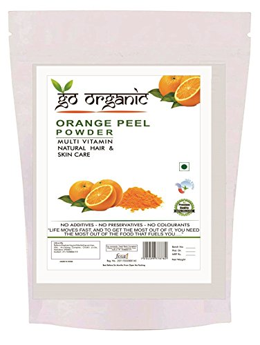 Go Organic Orange Peel Powder for Hair Conditioning, Skin Care (Or-250)