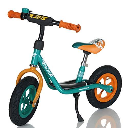 LCP Kids Laufrad Roller für Kinder ab 2 Jahren Luftreifen Ständer, Grün