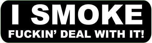 Lizenzed Originals Inc. Helmaufkleber Premium Qualität - lustige Biker Motorrad Helm Aufkleber Aufkleber Aufkleber One Size I SMOKE -