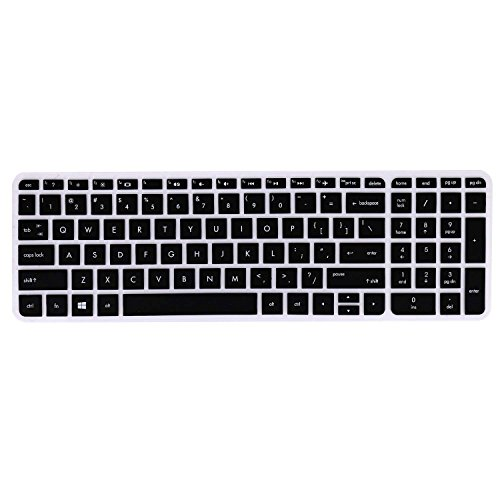 Saco Keyboard Silicon Protector Cover for HP Pavilion 15 ab219TX 15.6 inch Laptop  Black/Clear  Screen Protectors