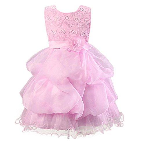 6027b7fe66f69 Amlaiworld ❤️Robe de Filles Fille d enfants Robe Princesse Fleurs Robe de  Partie de