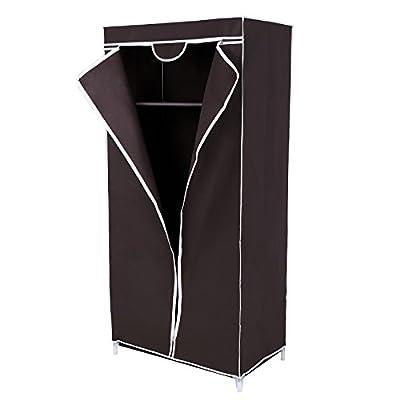 Songmics Fabric Single Canvas Wardrobe with Hanging rail Shelves Clothes Storage 75 x 45 x 160 cm RYG83Z - inexpensive UK light shop.