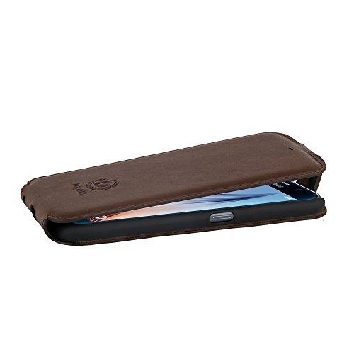 Bugatti 8743 Etui en cuir pour Apple iPhone 6 Motif Lausanne Noir braun - Milano (Flip)