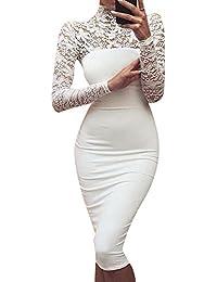 Mujeres Vestidos de Encaje Floral Elegante Vestido Fiesta Bodas Cóctel Slim Falda Para Fiesta Dress -