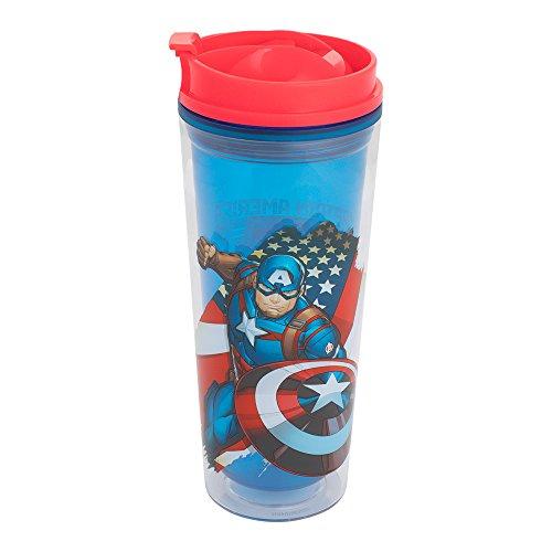 vándor 26422Marvel Captain America 16Oz Acryl Travel Tumbler