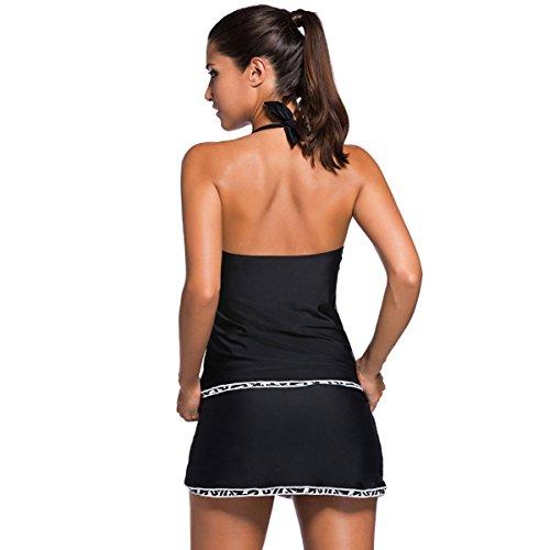Ms. Bikini Sexy War Dünn Rock-Stil Badeanzug Black