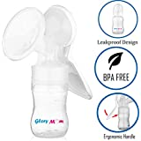 Glory Mom 250ml Manual Breast Pump, White