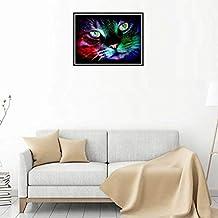 Pigupup 5D de Bricolaje de Halloween del Gato de la Mariposa del Rhinestone Calabaza Pintura Cristal