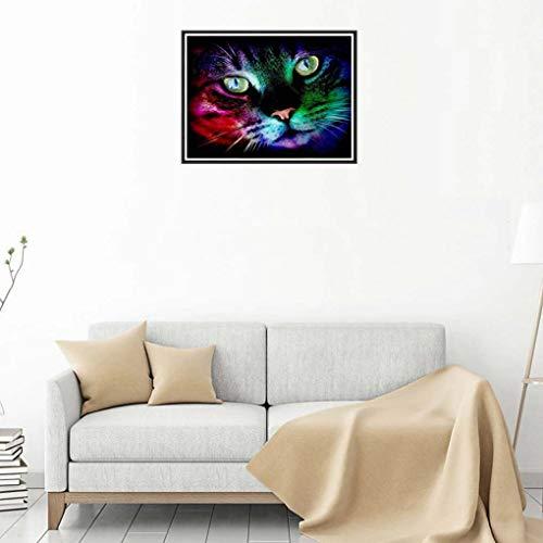 ween Schmetterling Katzen-Kürbis Strass Malerei Kristall Stickerei Bild Startseite Dekorative Diamant-Kreuz-Stich ()