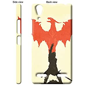TheGiftKart™ Paint Art Orange Dragon Unleashed Back Cover Case for Lenovo A6000 PLUS - Multicolor