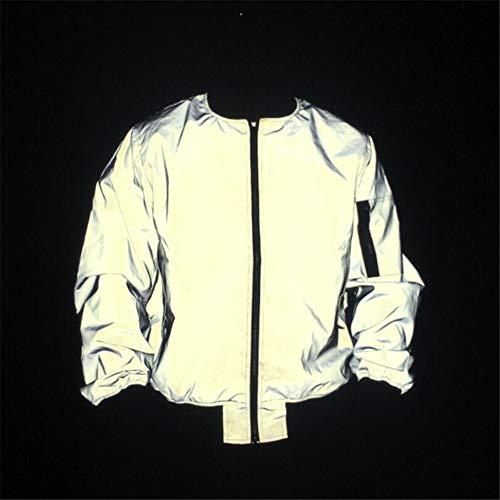 Chaqueta cortaviento reflectante Hombres y mujeres deportes al aire libre ropa reflectante de ciclismo...
