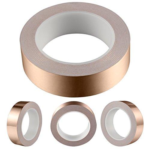 Geepro 30mmX25m EMI Kapton Tape Klebeband Selbstklebend Abschirmband Kupferfolie Kupferband 30mmx25M