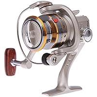 SODIAL(R)6BB Rodamientos de Bolas de Alta Potencia Engranaje Hilatura Carrete de Aluminio Carrete de Pesca SG1000 Plata