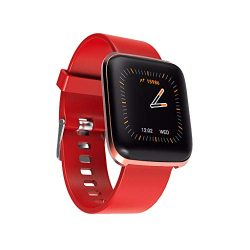 Smart Bracelet Uhren Armband /W5 Multifunktions-Sportchronograph Schritte Schlaf Herzfrequenz Sauerstoff Tracker Kalorienüberwachung Smart Watch/Für iOS-Android-Geräte und -Apps/Rot