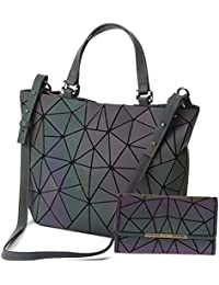 HotOne Scherbe Gitter Design Geometrische Tasche PU-Leder Einzigartige Geldbörsen und Handtaschen