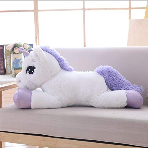 YOUHA 80 cm / 100 cm Weißes Einhorn Plüschtiere Riesen Einhorn Kuscheltier Pferd Spielzeug Weiche Puppe Geschenk Kinder Foto Requisiten 110 cm Weiß