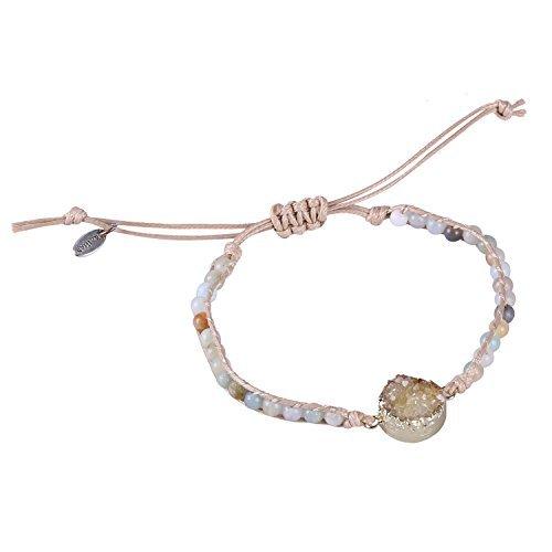 KELITCH Classic Nepal Beads Gilded Charm Wrap Bracelets Bohemian Friendship Bangle Jewelry (Green)
