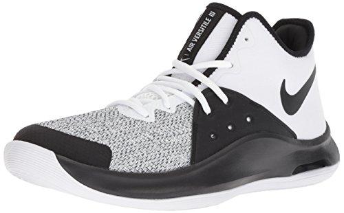 Nike Unisex-Erwachsene AIR Versitile III Sneakers, Mehrfarbig (White/Black/Dark Grey 001), 43 EU - Basketball-schuhe Aus