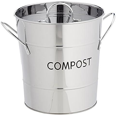 Eddingtons - Cubo compost (acero inoxidable, recipiente interior extraíble)