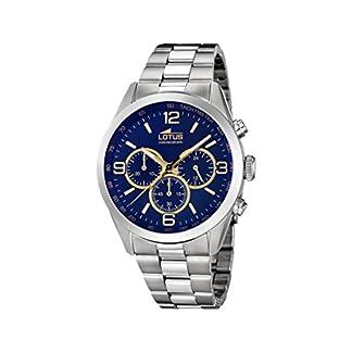 Lotus Watches Reloj Cronógrafo para Hombre de Cuarzo con Correa en Acero Inoxidable 18152/6
