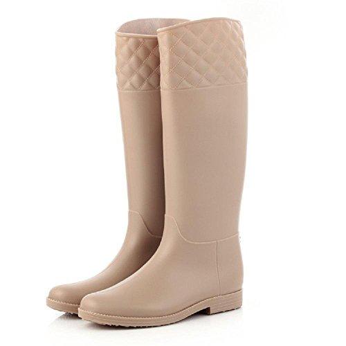 Mode-Frauen rutschfeste Umweltschutz Regen Stiefel , apricot , 36 (Hunter Frauen Kurze Regen Stiefel)