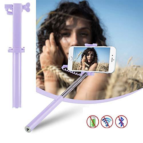 X-Tab Selfie Stick für MEDION Life E5020 Selfie Stange Stick Halterung Mini Handy - UStick lila