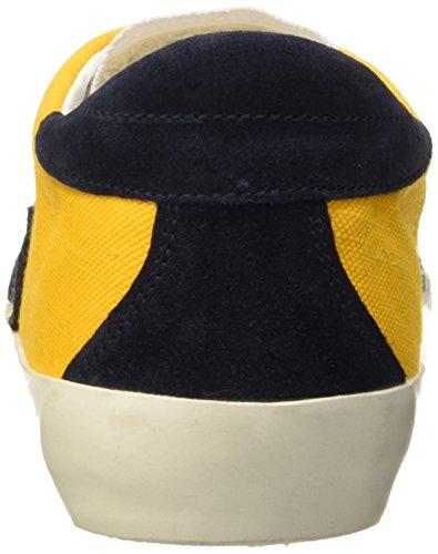 Ishikawa 004, Jaune Unisexe Bas-top Chaussures (naplin Jaune / Velour Bleu)