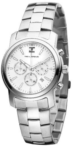 Ted Lapidus 5100902 - Reloj de cuarzo para hombres, color plata
