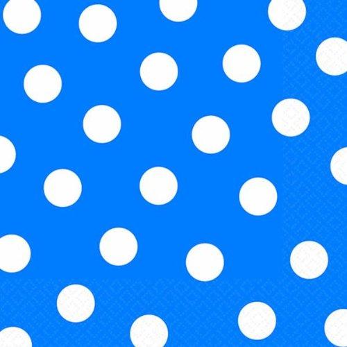Tiendas Online, Inc. Azul lunares servilletas (paquete de 16