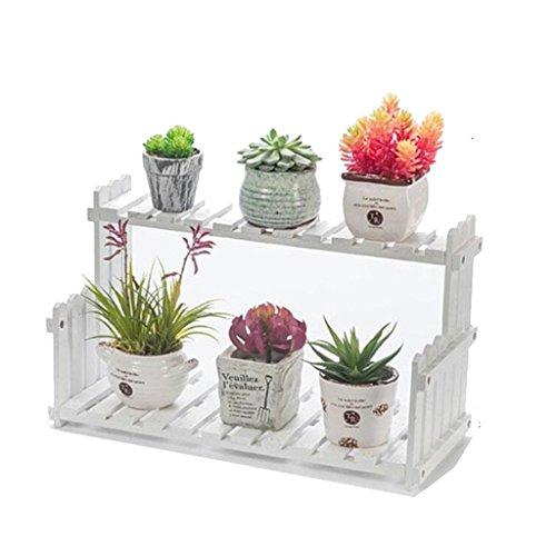 Aidelai stand di fiori scala balcone ripiano per fiori soggiorno fioriera in legno a più piani ripiano per fiori in legno (dimensioni : 50cm)