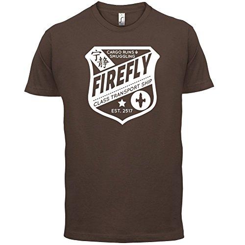 FireFly Badge - Herren T-Shirt - 13 Farben Schokobraun