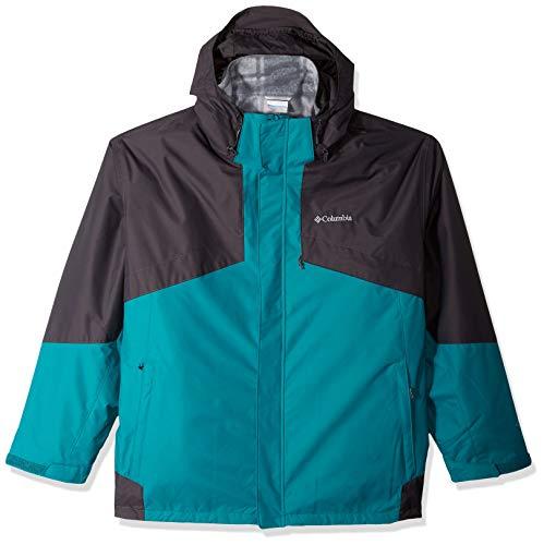 Columbia Men's Bugaboo Ii Big & Tall Fleece Interchange Jacket, Glacier Green/Shark, 3X Tall Mens Fleece