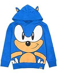 Sonic The Hedgehog Sudadera con Capucha Azul Niños Orejas Carácter 3D Boy