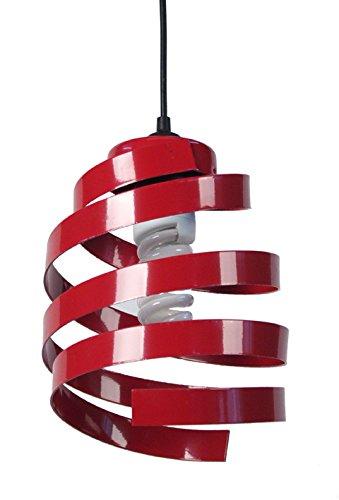 tosel-11006-suspension-barber-pole-2-acier-40-w-e27-rouge