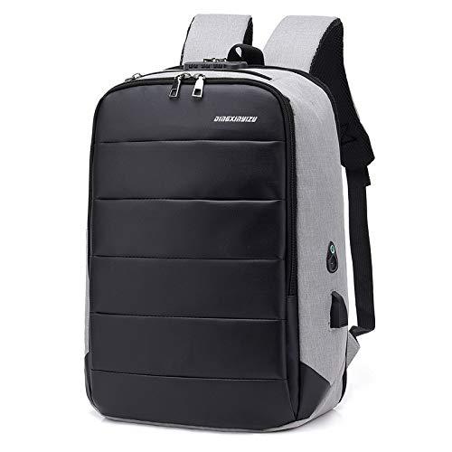 Zaino per computer portatile da viaggio sottile antifurto borsa da viaggio computer zaino impermeabile per gli uomini/donne 15.6 pollici nero