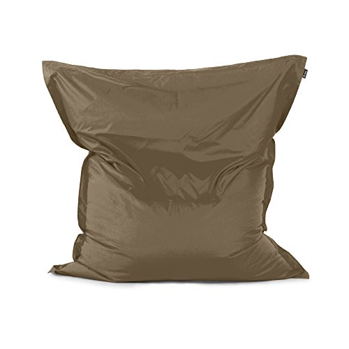 Avalon pouf cuscino grande quadrato samba tessuto tecnico per esterno tortora sfoderabile ed impermeabile