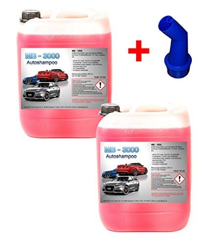 2x 10 L Nano Autoshampoo Carshampoo Konzentrat Glanzshampoo Autoglanz Abperleffekt 1 € / Ltr.