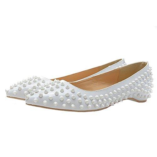 Arc-en-Ciel Damenschuhe Niet spitzen Zeheebenen White