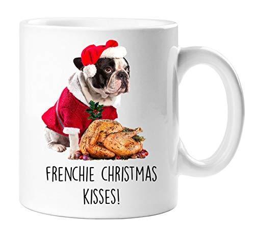 Becher Weihnachten Kisses Pute Haustier Geschenk Französisch Bulldogge Mum Dad ()