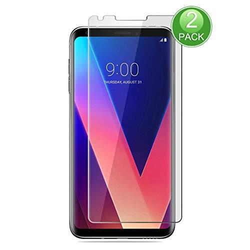 X-Dision Displayschutzfolie,kompatibel mit LG V30,[2 Stück] Premium-Schutzfolie der 2.5D Double Defense-Serie,Schutzhülle aus 9H-Hartglas,[Anti-Fingerprint und Anti-Scratch]