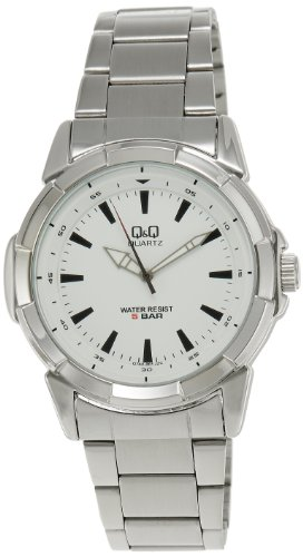 Q&Q Standard Analog White Dial Men's Watch - Q742J201Y image