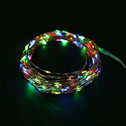 Rrimin Solar Power 200LED Copper Wire Outdoor String Fairy Light Xmas Garden Decor