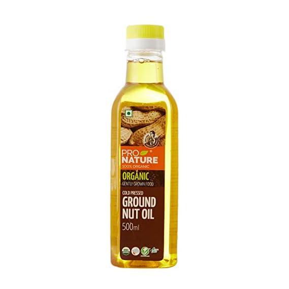 Pro Nature 100% Organic Groundnut Oil, 500ml