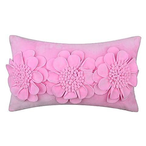 Jwh 3d Fleurs Super Doux Housses de coussin de mariage Maison Canapé de voiture Couvre-lit décoratif Taie d'oreiller Housses de coussin décoratif d'oreiller 30,5x 45,7cm