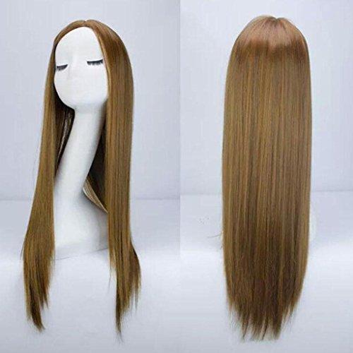Silbergrau Perücke Ms. lange Haare Big Wave Cos Perücke , light (Ms Kostüm Brown)