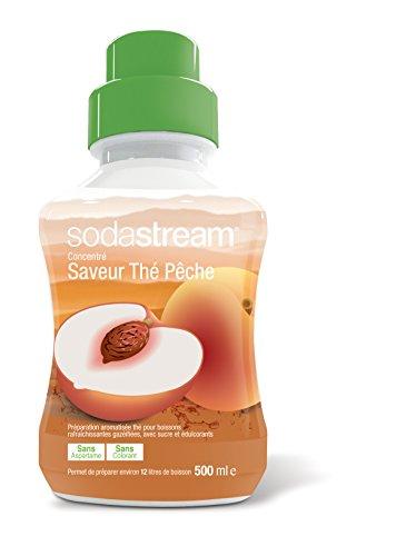 Sodastream 30061504 - Líquido Concentrado para dispensador de refresco (Sabor a té Negro con melocotón, 500 ML)